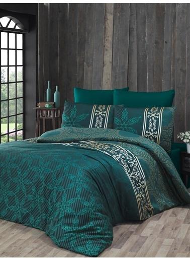 Komfort Home Tek Kişilik Exclusive Deluxe Saten Nevresim Takımı (Green) Yeşil
